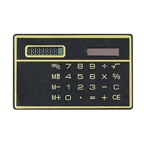 8-stelliger ultradünner Solar-Taschenrechner mit Touchscreen, Kreditkarten-Design, tragbarer Mini-Taschenrechner für Business und Schule