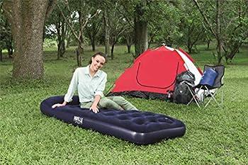 Bestway 67223 Matelas gonflable camping Pavillo? 1 place 1.85m x 76cm x 22cm avec pompe à pied intégrée