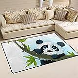 COOSUN Arbre d'escalade Panda géant Tapis Tapis antidérapant Tapis Paillassons pour Living Room Chambre 78,7 x 50,8 cm (31 po x 20 po) 31 x 20 Pouces Multi