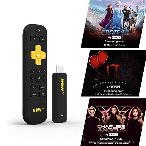 Smart Stick für NOW TV mit HD und Sprachsuche Funktion 1 Monat Sky Cinema Pass