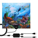 HDTV Antenna,Latest 2020 Indoor Digital TV Antenna 130+ Miles Range with Amplifier Signal
