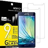 NEW'C 2 Unidades, Protector de Pantalla para Samsung Galaxy A5 2015 (SM-A500F), Antiarañazos, Antihuellas, Sin Burbujas, Dureza 9H, 0.33 mm Ultra Transparente, Vidrio Templado Ultra Resistente