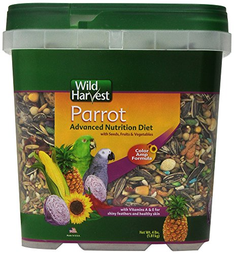 Wild Harvest Wh-83542 Wild Harvest Advanced Nutrition Diet For Parrots, 4-Pound