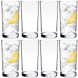 Youngever 8 Pack 16 Ounce Plastic Water Tumbler, Set of 8, Plastic Glasses, Reusable Plastic Cups, Unbreakable Glasses, Plastic Tumblers (Clear)
