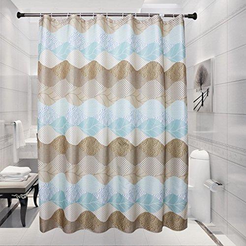 Gehobene Individualität Duschvorhang, Dicker wasserdicht Vermeiden Sie Mehltau abgeschnitten Polyester Material Duschvorhänge 200 (Breite) x210cm (Höhe), 200 (Breite) x220cm (Höhe), Persönlichkeit nor