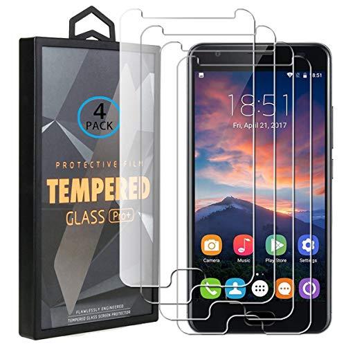 Ycloud 4 Pack Verre Trempé pour Oukitel K6000 Plus, HD Transparent Screen Protector [Anti-Rayures] [Dureté 9H] [Facile à Installer] Vitre Tempered Glass Screen Protector