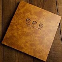 Insert Album Large Capacity Leather Album Vintage Engraving Manual Diy Scrapbook Photo Collection Gifts, e