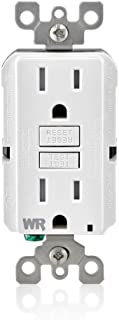 Leviton GFWT1-W 15 Amp Self-Test SmartlockPro Slim GFCI Weather-Resistant and Tamper-Resistant Receptacle with LED Indicator, 10-Pack, White