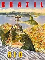 ERZAN知育玩具200ピースパズルリオデジャネイロブラジル砂糖南アメリカ ビンテージ旅行広告家の装飾