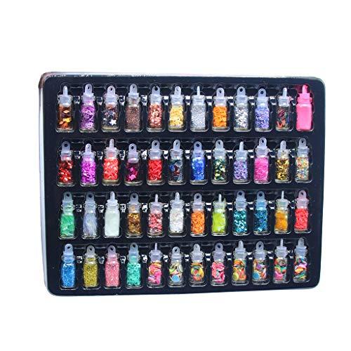 48Pcs Sequins/Glitter Filler Soft Slime Toys for Children Mud DIY Kit for Glass Bottles DIY, Art Crafts Ornament, Decorative Ball DIY,Mud Slime DIY Containers for Slime Supplies Girls Boys