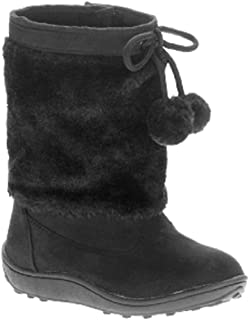 13 4 1 5, Faded Glory Youth Girls Black Shearling Boots 12 3