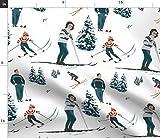 Ski, Vintage, Retro, Winter, Schnee, Tanne, Berg Stoffe -