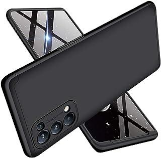 ALAMO Cover Custodia per Oppo Find X3 Lite, Case Armor Rugged Antiurto con Struttura a Tre Stadi PC - Nero