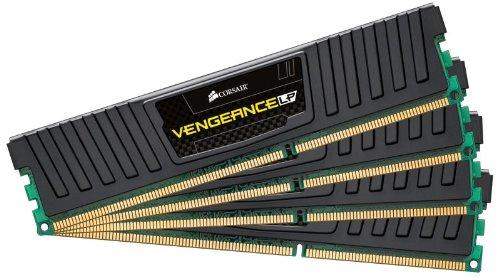 Corsair CML16GX3M4A1600C9 Vengeance Low Profile 16GB (4x4GB) DDR3 1600 Mhz CL9 XMP Performance Desktop Memory Schwarz