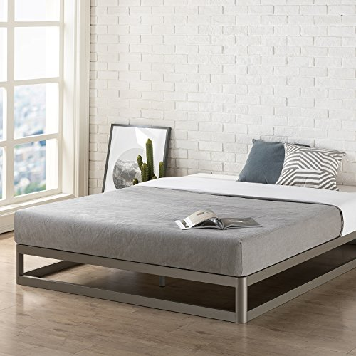 Mellow 9-Inch Metal Platform King Bed Frame | Heavy Duty Steel Slats | Mattress Foundation (No Box Spring needed)
