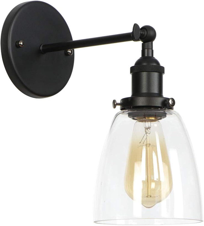 Amerikanischen Stil Retro Wandleuchte Vintage Mode Lampen Schlafzimmer Einstellbare Lenkkopf Nodic Kreative Eisen Wohnzimmer Gang Lichter Wandleuchte Leuchte,schwarz