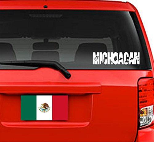 "Jeyfel Decals: Vinyl Decal Sticker. Car, Window, Wall. Emblema Michoacan, México. (11.75"" W x 3"" H)"