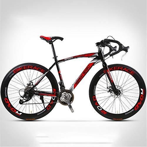 LQH 26-Zoll, 30/40 / 60mm High Carbon Stahl Mountain Bike, 24/27 Geschwindigkeit, Klaue Griff, Doppelscheibenbremsbeläge, Große Getriebedruckplatte, Variable Speed männliche und weibliche City Bike