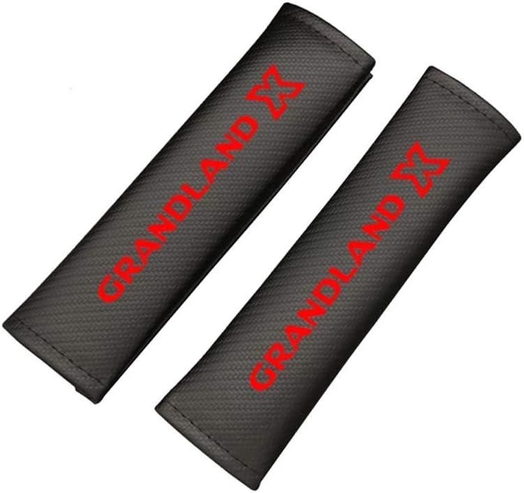 wowowa 2 Piezas PU Cubierta de cintur/ón de Seguridad de Coche coj/ín autom/ático Cinturones de Seguridad protecci/ón de Hombro para Opel Grandland X