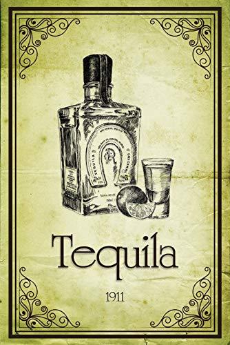 FS Tequila 1911 metalen bord gebogen metalen sign 20 x 30 cm