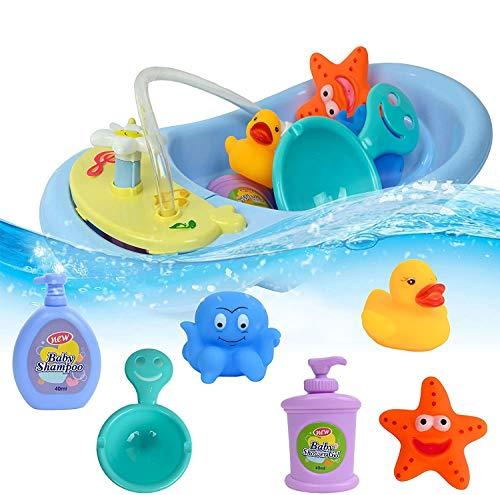 ML Pack de 8 pcs de Juguete de bañera para niños y niñas. Juego de baño Flotante para Bebes. Kit Ducha Bath Time Bebe