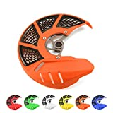 Front Brake Disc Rotor Guard Protector Cover For SX XC EXC SXF XCF XCW XCFW EXCF SIX DAYS 125 150 200 250 300 350 400 450 500 505 525 530 2015-2019 Dirt Bike Orange