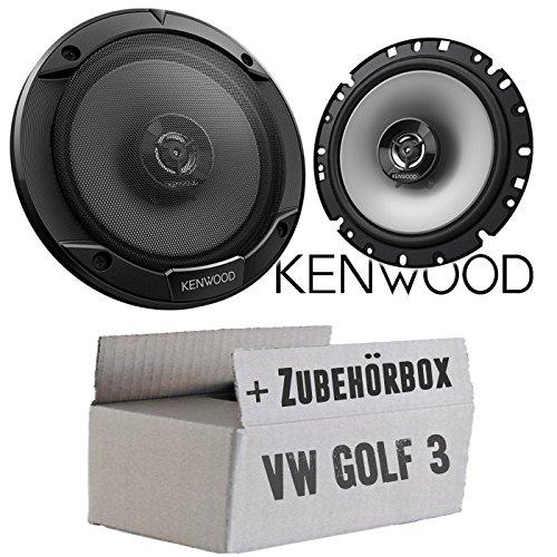 Lautsprecher Boxen Kenwood KFC-S1766-16cm 2-Wege Koax Auto Einbauzubehör - Einbauset für VW Golf 3 - JUST SOUND best choice for caraudio