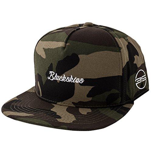 Blackskies Snapback Cap Wildleder Camo Denim Schirm Flanell Unisex Premium Baseball Mütze Kappe Wolle, Tango, Einheitsgröße