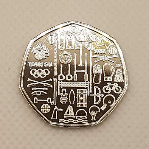 Desconocido BUNC 2020 Coleccionable Team GB Tokyo Olympics 50p Brilliant Uncirculated, no lanzado aún por la Royal Mint. Viene en una cápsula