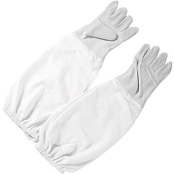 1 Pair XL Beekeeping Gloves Goat Skin Bee Keeping Vented Beekeeper Long Sleeves
