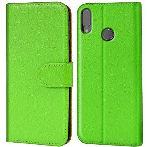 Verco P20 Lite Hülle, Handyhülle für Huawei P20 Lite Tasche PU Leder Flip Case Brieftasche - Grün
