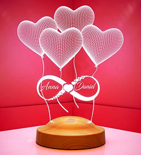 Valentinstag Geschenke Unendliche Liebe Personalisierte Lampe Für Weihnachten Hochzeit Partnergeschenk Küche Haushalt