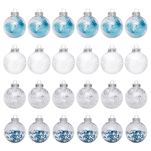 RIABXZ - Palline di Natale per albero di Natale, decorazioni da appendere, colore: blu ghiaccio