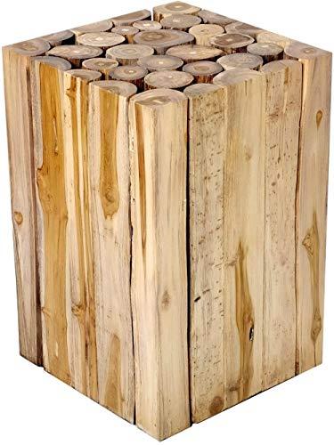 Diseño Mesa Auxiliar Mesa de Centro Madera de Teca Taburete de Bloque de Madera Maciza de Teca mesita de Noche de Bloque de Madera