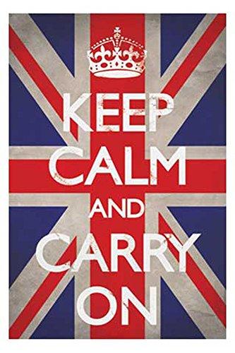 Keep Calm Poster Union Jack + accessoires Ü-Poster der Grösse 61x91,5 cm