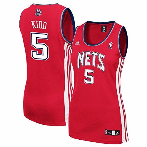 adidas Jason Kidd New Jersey Nets NBA Women's Red Replica Jersey (M)