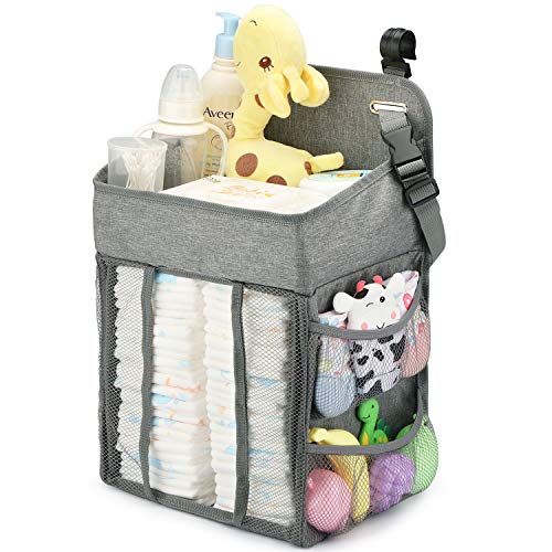 Changing Table Diaper Organizer - Baby Hanging Diaper Stacker Nursery Caddy Organizer...