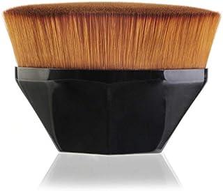 Cepillo de base sin costura de alta densidad, pinceles de maquillaje Kabuki hexagonal de superficie plana para mezclar cosméticos líquidos, cremas o polvos sin defectos Black