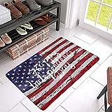 Happy Independence Day American Memorial Day auf USA Flagge Fußmatte Teppich Home Decor Bodenmatte Innen- & Außenfußmatte Warmes Haus Geschenk Willkommensmatte Geschenk für Fre& Familie 20