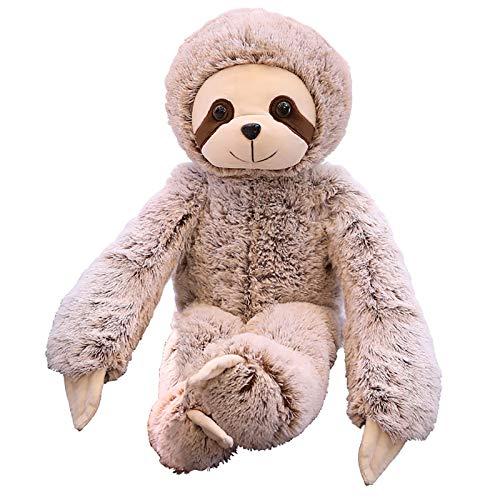YUDIZWS Almohada suave de peluche, con forma de animal, para niños, adultos, 50 cm
