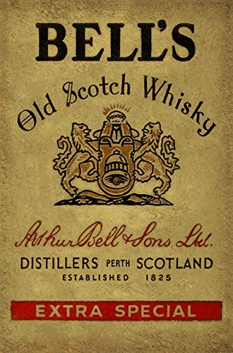 Deko 7 Tin Sign 30 x 20 cm Bell's Old Scotch Whisky