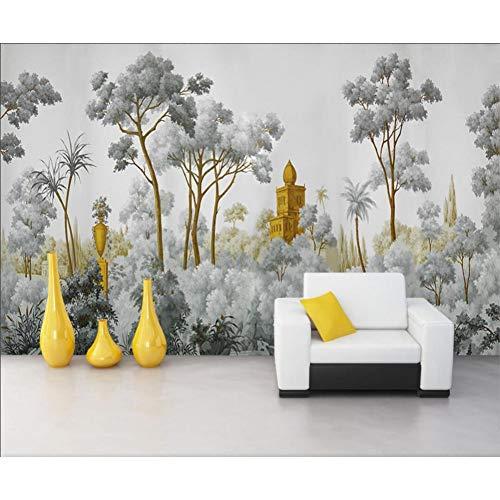 Papel tapiz personalizado siglo selva tropical planta fondo decoración del hogar sala de estar dormitorio mural papel tapiz 3d
