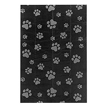 Best Pet Supplies Dog Poop Bags for Waste Refuse Cleanup, Doggy Roll Replacements for Outdoor Puppy Walking and Travel, Leak Proof and Tear Resistant, Thick Plastic - Black, 150 Bags 3