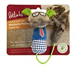 Petlinks, Mustache Mania, Catnip Filled Cat Toy, Soft Durable Plush Mouse, With Long Faux Fur Tail and Mustache