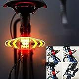 ZIHAOF Fahrrad Rücklicht LED Mit Fernbedienung, Blinker Für Fahrrad Hinten, Mehrere Beleuchtungsmodi, Schnelle Installation, Wasserdichtes Design, USB-Aufladung, Für Nachtfahrten,Black
