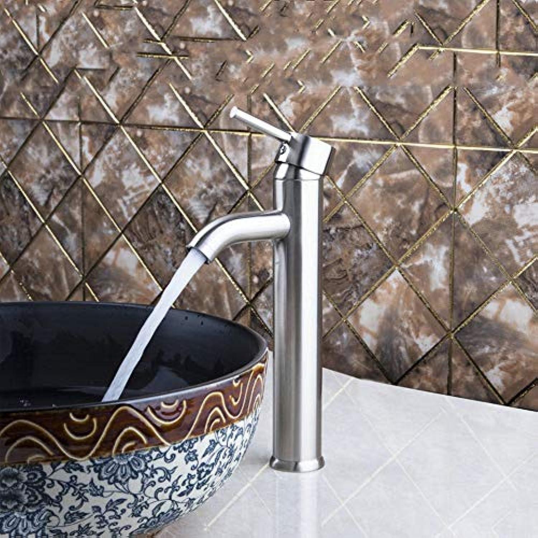 Floungey BadinsGrößetionen Waschtischarmaturen Küchenarmaturen Bad Wasserhahn Becken Wasserhahn Massivem Messing Wasserhhne Nickel GebürstetHochwertige Deck Montiert