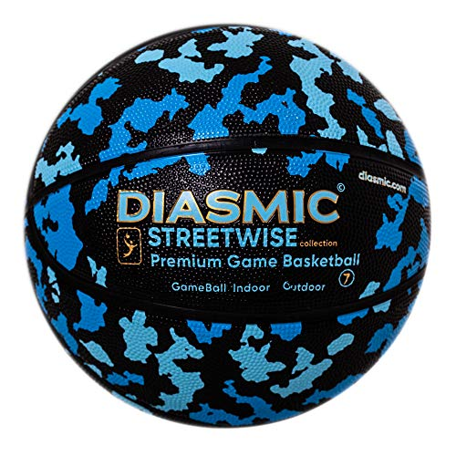 Cheapest Prices! Millenti Bend-It Streetwise Premium-Game Indoor-Outdoor Street Basketball (Camo Blu...