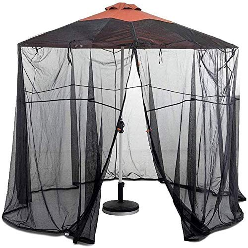 Furniture Decoration Patio Umbrella Mosquito Net Umbrella Cover Mosquito Netting Screen Garden Umbrella Table Screen Parasol Net Cover Bug Netting Cover