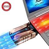 KLIM Cool + Refroidisseur PC Portable en Métal - Le Plus Puissant - Extracteur d'...