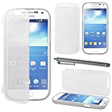 ebestStar - Compatible Coque Samsung S4 Mini Galaxy GT-i9190, i9192, i9195 Etui Housse Silicone Gel Portefeuille + Stylet, Transparent [Appareil: 124.6 x 61.3 x 8.9mm, 4.3'']